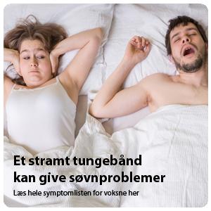 Snorker du dig gennem natten? Måske skyldes dine søvnproblemer et stramt tungebånd
